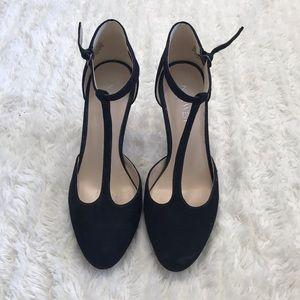 Nine West Black Suede Heels